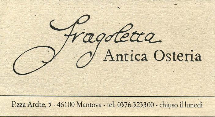 Antica Osteria Fragoletta