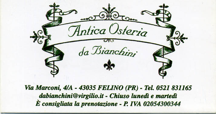 Antica Hostaria da Bianchini