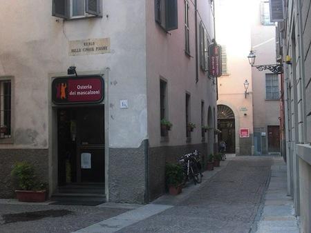 vicolo delle Cinque Piaghe Parma
