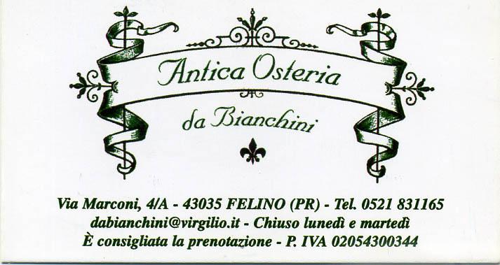 Antica Hostaria da Bianchini